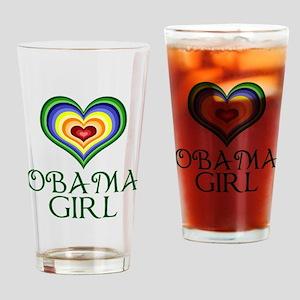 Obama Girl Drinking Glass