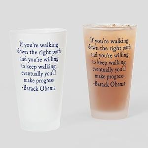 Progressive Obama Drinking Glass