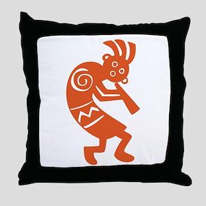 Kokopelli Throw Pillow