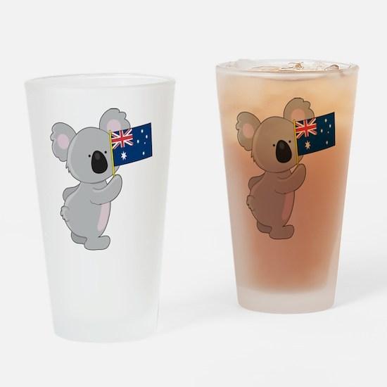 Koala Australian Flag Pint Glass