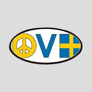 Love Peace Sweden Patches