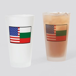 USA/Bulgaria Pint Glass