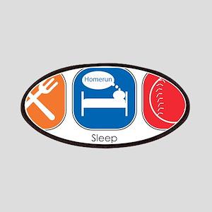 Eat Sleep Baseball Patches