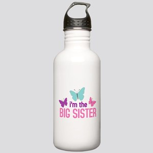 i'm the big sister butterfly Stainless Water Bottl