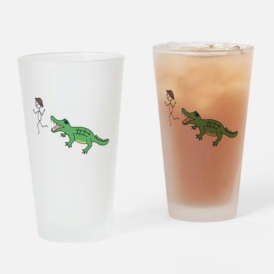 Alligator Chase Pint Glass