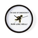 Incase of Emergency Wall Clock
