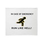 Incase of Emergency Throw Blanket