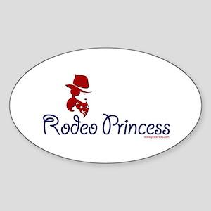 Rodeo Princess Oval Sticker