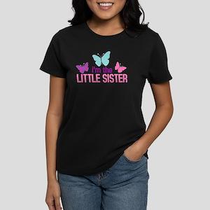 i'm the little sister butterf Women's Dark T-Shirt