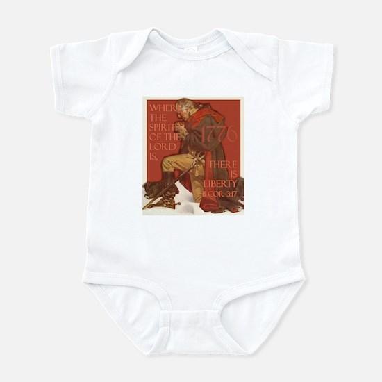 Washington- Liberty and the S Infant Bodysuit