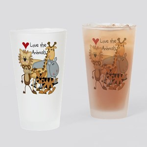 Love the Animals Pint Glass