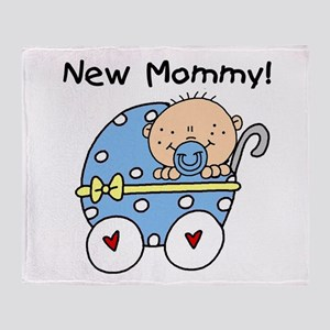New Mommy Baby Boy Throw Blanket