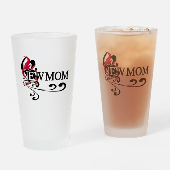 Heart New Mom Pint Glass
