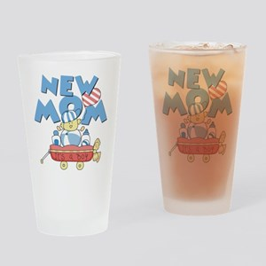 Red Wagon New Mom Pint Glass