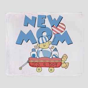 Red Wagon New Mom Throw Blanket