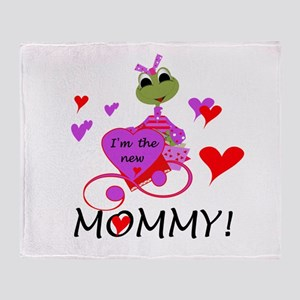 Frog New Mommy Throw Blanket