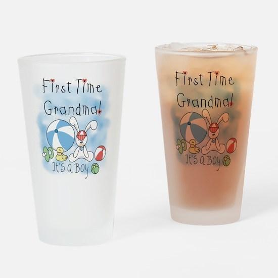 Grandma Baby Boy Pint Glass
