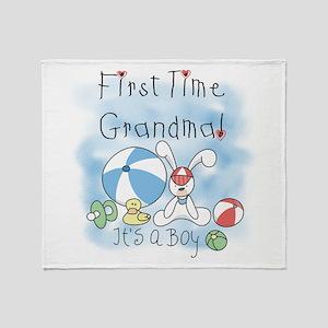 Grandma Baby Boy Throw Blanket