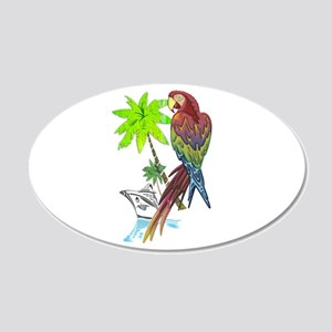 Parrot Tropical Cruise 22x14 Oval Wall Peel