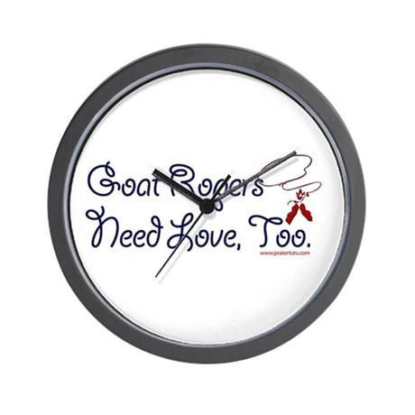 Goat Ropers Wall Clock