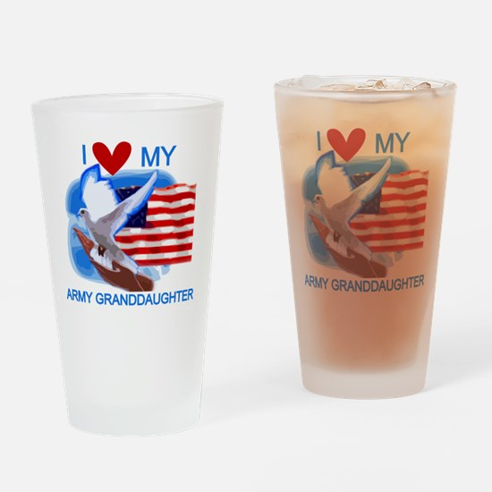 Love My Army Granddaughter Pint Glass