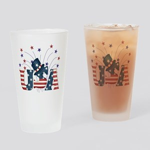 USA Fireworks Pint Glass