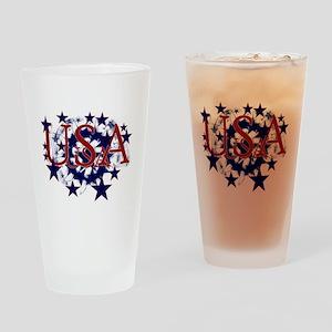USA Stars Pint Glass