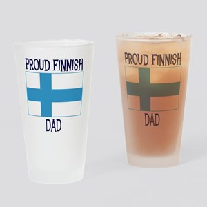 Proud Finnish Dad Pint Glass