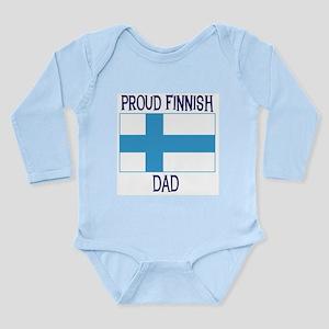 Proud Finnish Dad Long Sleeve Infant Bodysuit