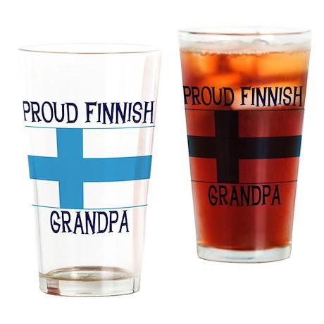 Proud Finnish Grandpa Pint Glass