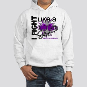Fight Like A Girl Fibromyalgia Hooded Sweatshirt