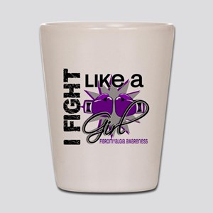 Fight Like A Girl Fibromyalgia Shot Glass