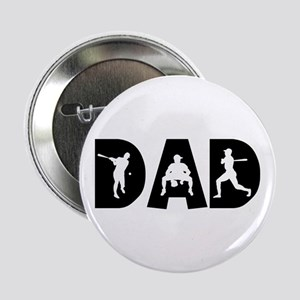Baseball Dad Button