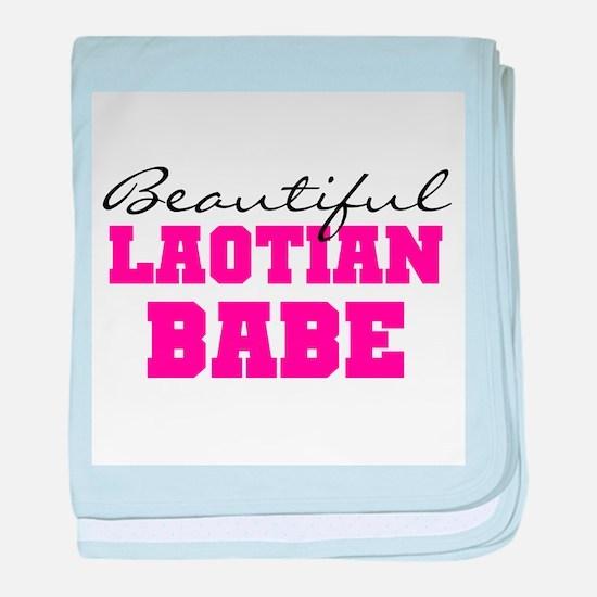 Laotian Babe baby blanket