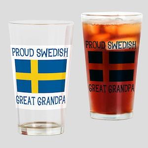 Swedish Great Grandpa Pint Glass