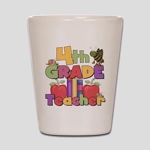 4th Grade Teacher Shot Glass