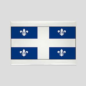 Quebec Quebecer Blank Flag Rectangle Magnet