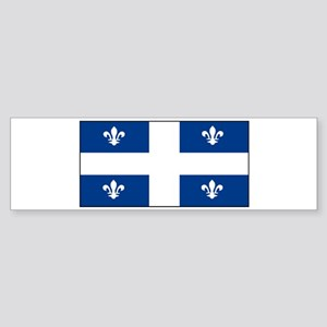 Quebec Quebecer Blank Flag Bumper Sticker