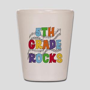 Bright Colors 5th Grade Shot Glass