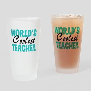 World's Coolest Teacher Drinking Glass