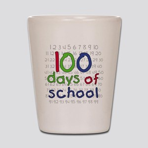 Numbers 100 Days Shot Glass