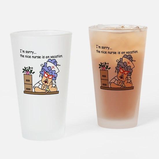 Nurse on Vacation Pint Glass