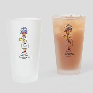 Be Nice Nurse Pint Glass