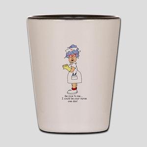 Be Nice Nurse Shot Glass