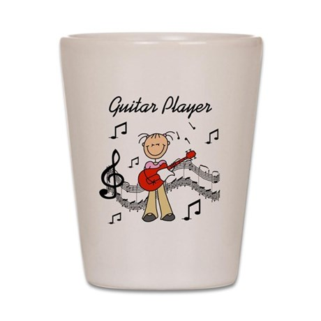 Guitar Player Shot Glass