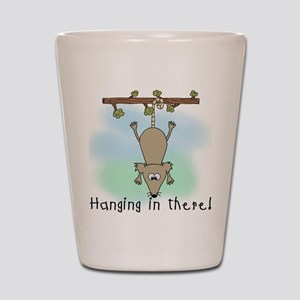 Hanging in There Shot Glass
