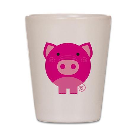Pink Pig Shot Glass