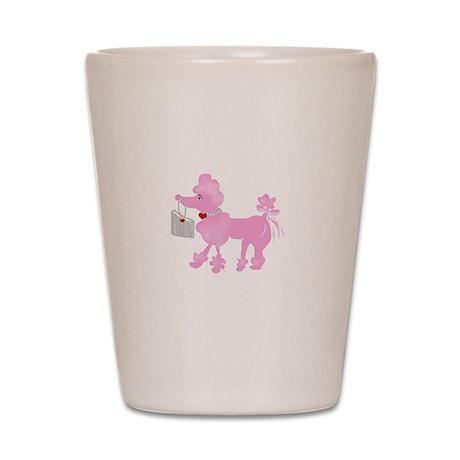 Pink Poodle Shot Glass