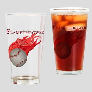 Flamethrower Baseball Pint Glass