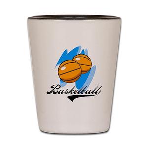 b017d7bd8246 Love Basketball Shot Glasses - CafePress